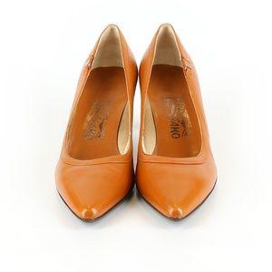 Salvatore Ferragamo Heel Brown 7.5 C